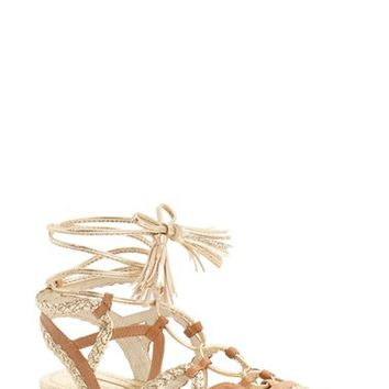 BCBGeneration 'Finlyn' Flat Lace-Up Sandal (Women) | Nordstrom