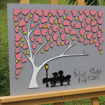 FAST Shipping 3d wedding guest book  wedding guest book alternative guest book ideas guest book alternatives custom guest book tree guest