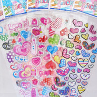 Colorful Hearts Epoxy Sticker Sheet (Your Choice of Design)~KAWAII!!