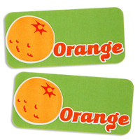 Orange Bakery Labels