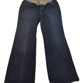 Blue Low Waist Maternity Jeans by GAP