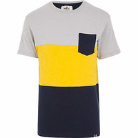Grey Bellfield colour block t-shirt - branded t-shirts - t-shirts / vests  - men