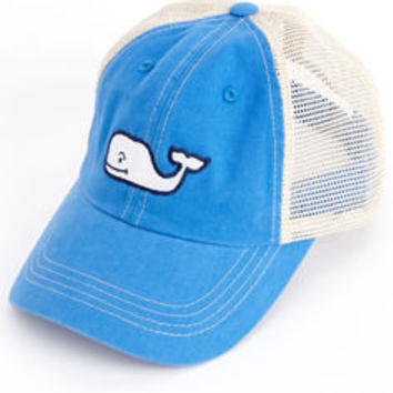 Mens Baseball Hats: Whale Logo Embroidered Trucker Hat - Vineyard Vines