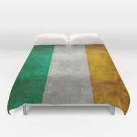 National flag of the Republic of Ireland - Vintage Version Duvet Cover by LonestarDesigns2020 - Flags Designs +