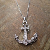 Silver Anchor and Rope Necklace | Candy's Cottage
