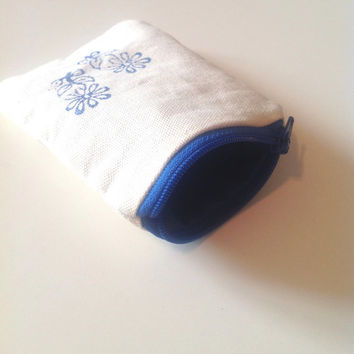 Lotus Flower Mini Coin Purse - Small Yoga Zipper Coin Purse