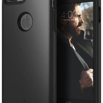 DCCKV2S Caseology Legion Series iPhone 7 Plus Cover Case with Tough Rugged Heavy Duty Protection for Apple iPhone 7 Plus (2016) Only - Matte Black