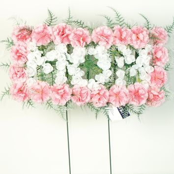 Mom Pillow - Pink Carnations - 18 Inch
