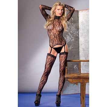 3 Piece Turtle Neck Bodystocking