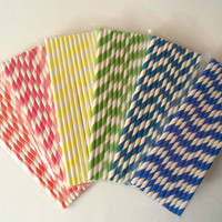 Striped Party Straws, Party Supplies, Special Occasion Straws, Holidays , Parties