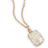 16in x 2in 12/20 Gold Filled Wire Wrapped Shell Necklace
