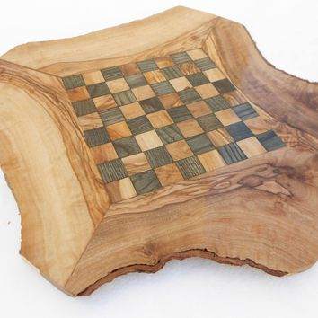 Engraved Handcrafted Rustic Wooden Chess Board Set, Boyfriend gift