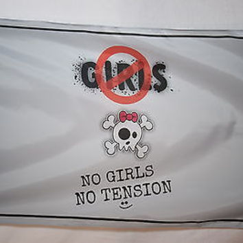 No Girls No Tension Joke College Dorm Garage Basement Flag 3x5