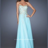 Strapless Sweetheart La Femme Formal Prom Dress 20114