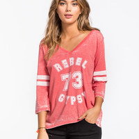 Billabong Rebel Love Womens Tee Red  In Sizes