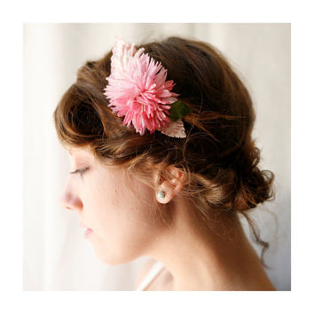 pink vintage flower comb 'harper' by whichgoose on Etsy
