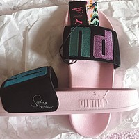 puma x sophia webster Bright eye embroidery fashion and leisure sports slippers