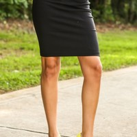 Feeling Accomplished Skirt-Black