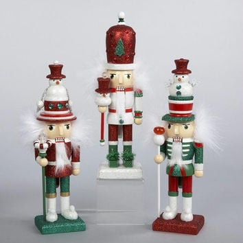 3 Christmas Nutcrackers - Glitter And Gemstones