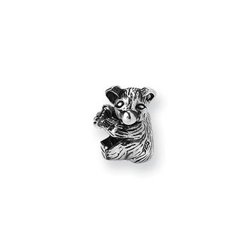 Sterling Silver Baby Bear Bead Charm