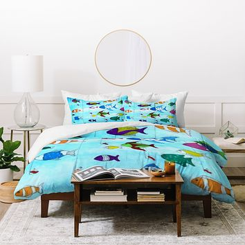 Rosie Brown Tropical Fishing Duvet Cover