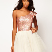 ASOS Prom Dress with Sequin One Shoulder