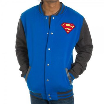 Superman Men's Letterman Jacket - Medium