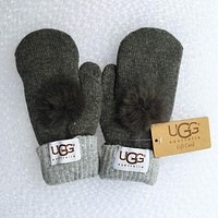 UGG Winter Woman Men Knit Gloves
