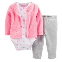 Carter's 3-pc. Polka-Dot Cardigan Set - Baby Girl, Size: