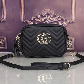Gucci Women Leather Shoulder Bag Satchel Crossbody-6