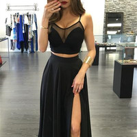 Sexy Off Shoulder Vest Tank Top Camisole Skirt Set Two-Piece