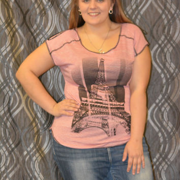 Check it Out Plus Eifell Tower Tops Curvy couture