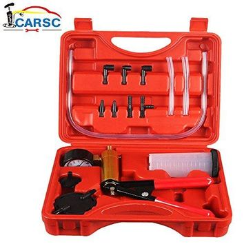 Hand Held Vacuum Pump/Gauge and Brake Bleeder Kit