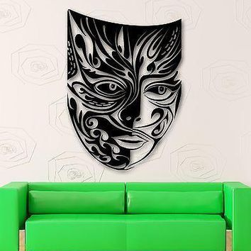 Wall Stickers Vinyl Decal Comedy Tragedy Mask Theater Emotions Unique Gift (ig1767)