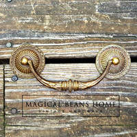 Vintage KBC Gold Baroque Bail Pull by MagicalBeansHome.com