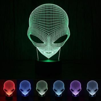 3D Cartoon Alien Shape LED Table Lamp