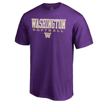 Fanatics Branded Washington Huskies Purple True Sport Softball T-Shirt