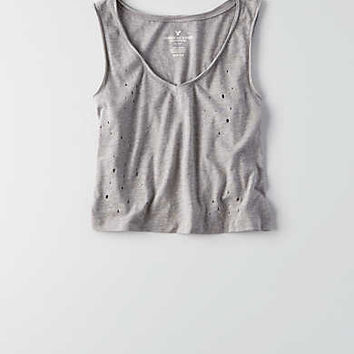 AEO Cropped Swing T-Shirt , Stone