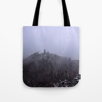 Castle ruin in the snow Tote Bag by Pirmin Nohr