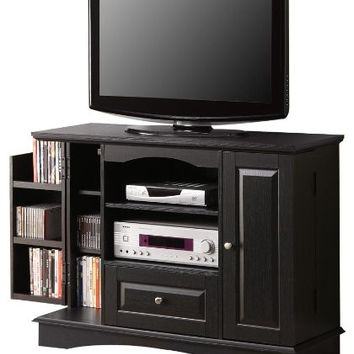 Chic and Compact Black Bedroom TV Console with Media Storage by Walker Edison