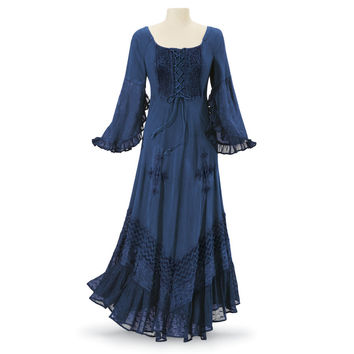 Indigo Gypsy Dress - Women's Clothing & Symbolic Jewelry – Sexy, Fantasy, Romantic Fashions