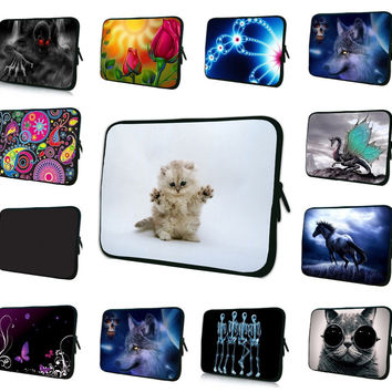 "Neoprene Laptop Sleeve Case Cover For 7 8 10 12 13 15 17 17.3 inch 14.1""  Notebook Netbook Mini PC Capa Para Notebook 15.6 13.3"