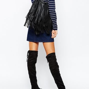 2a8c30ef93b Truffle Collection Cece Tie Back Over The Knee Boots