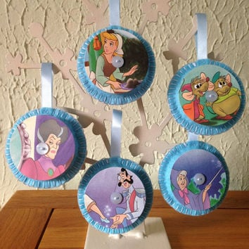 Vintage Felt Disney Decorations - Cinderella Set