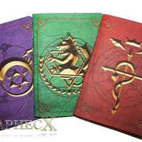 Fan-made Fullmetal Alchemist spell book inspired personalized journal notebook