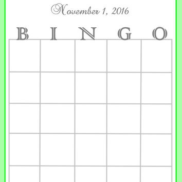 Green Striped Baby Shower Bingo Cards