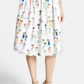 Women's re:named Jellyfish Print Midi Skirt