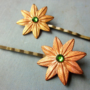 Art Deco Hair Pins - 1920s Inspired Rhinestone Bobby Pins - Flapper Hair Accessories - 1920s Hair Clips