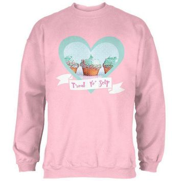 PEAPGQ9 Treat Yo Self Cupcakes Mens Sweatshirt