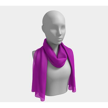 Solid Long Scarf - Purple